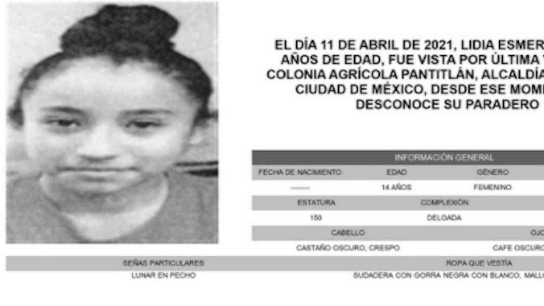 Lidia Esmeralda Calvillo García fue vista por última vez en la Agrícola Pantitlán, alcaldía Iztacalco (Twitter: @FiscaliaCDMX)