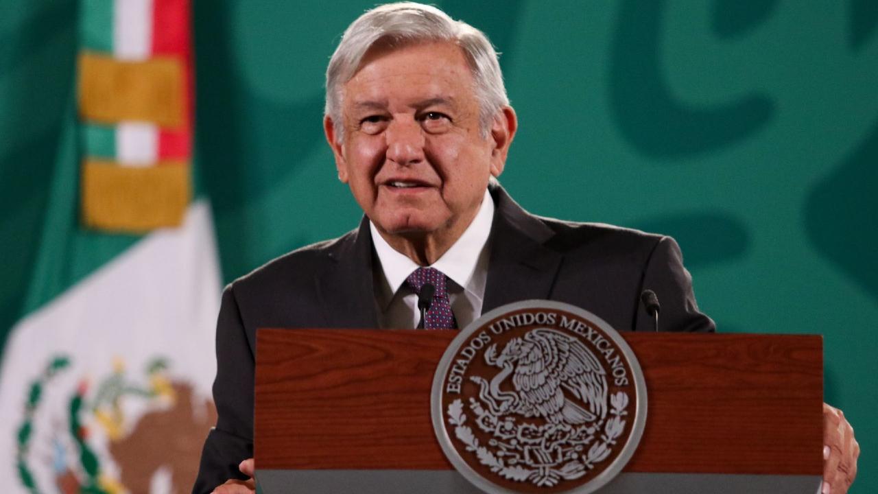 Andrés Manuel López Obrador, presidente de México, durante su conferencia de prensa en Palacio Nacional