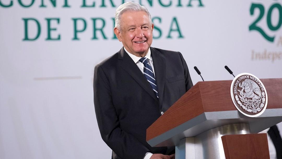 El presidente Andrés Manuel López Obrador en la conferencia de prensa matutina en Palacio Nacional.
