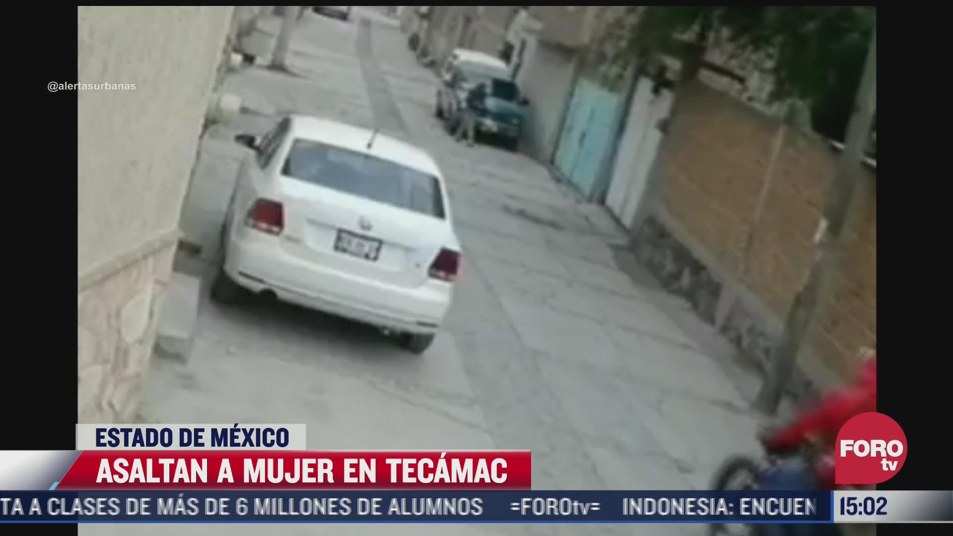 asaltan a mujer cuando caminaba sola en calles de tecamac edomex