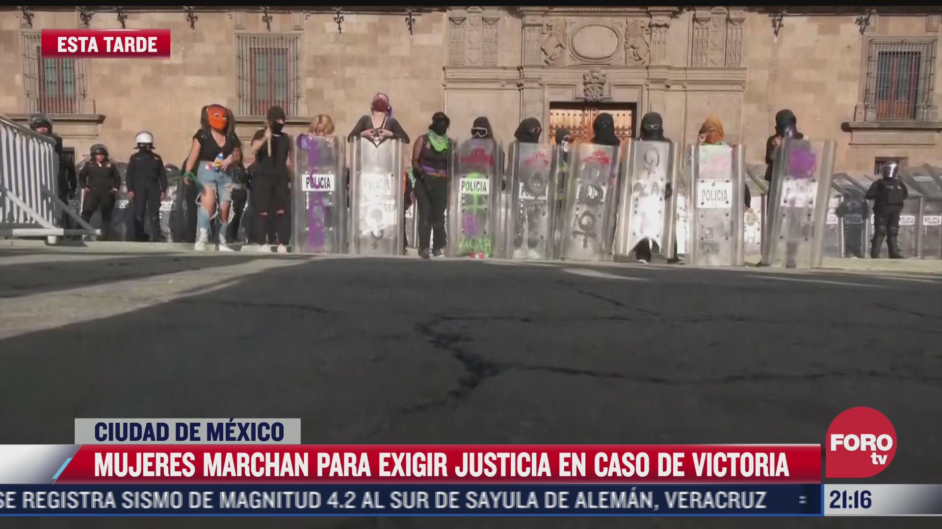 asi fue la protesta en cdmx por homicidio de victoria salazar