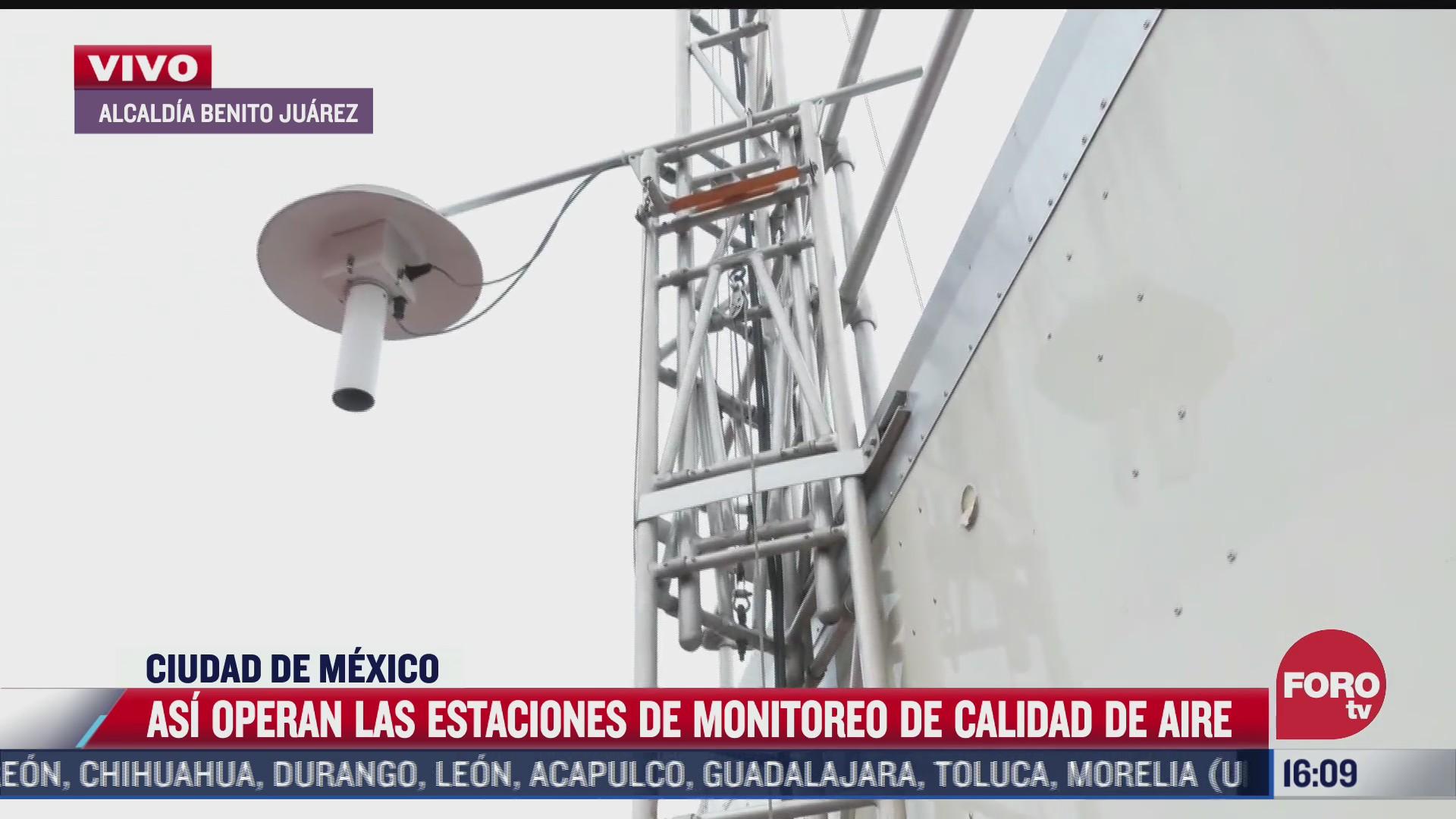 asi operan las estaciones de monitoreo de calidad de aire