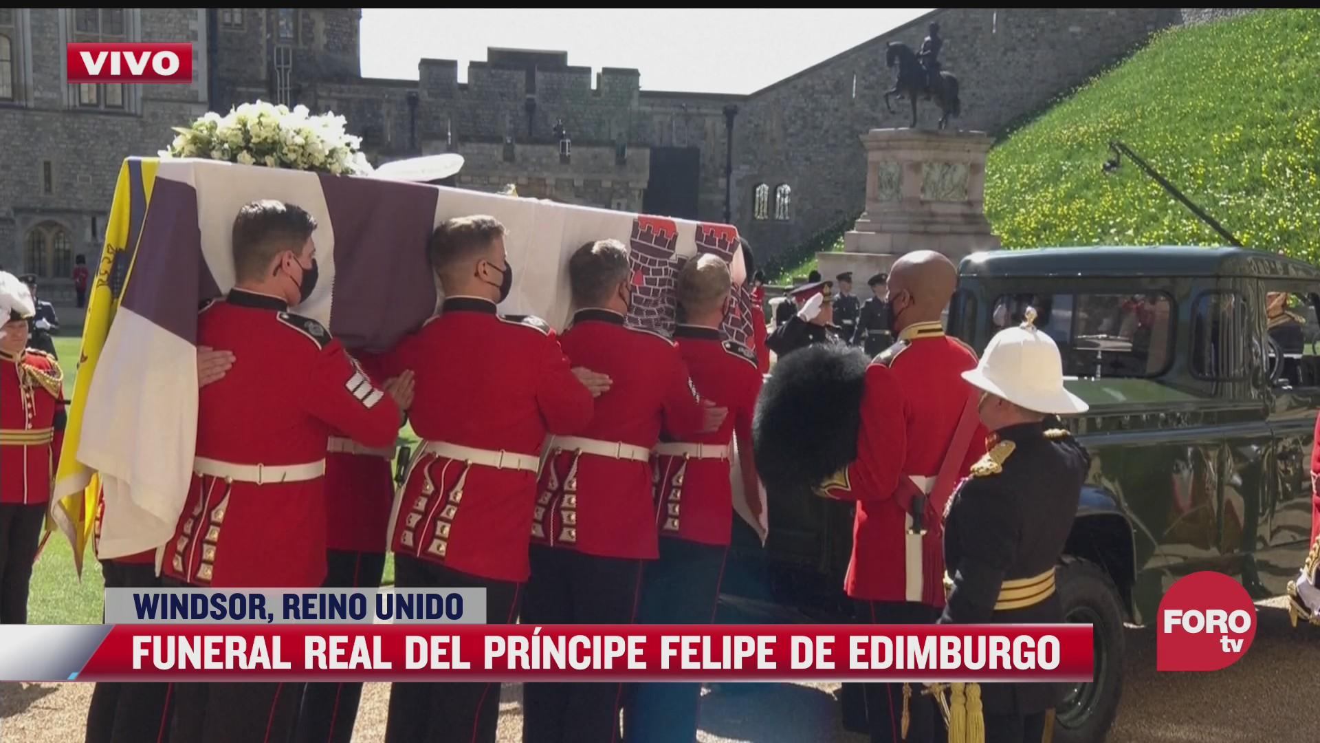 ataud del principe felipe es trasladado a la capilla de san jorge