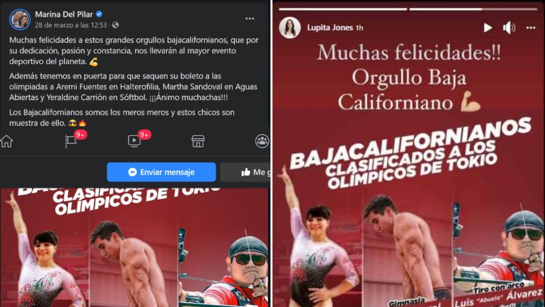 Marina del Pilar, Lupita Jones, elecciones, Baja California, plagio
