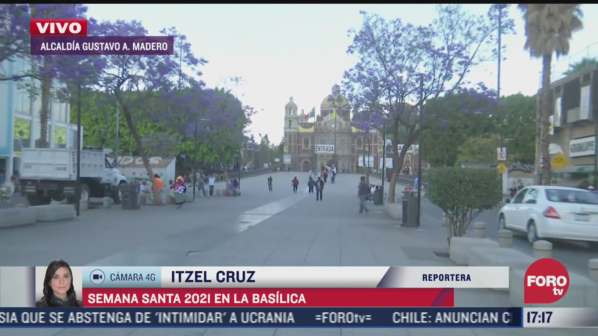 basilica de guadalupe con poca afluencia de personas pese a semana santa