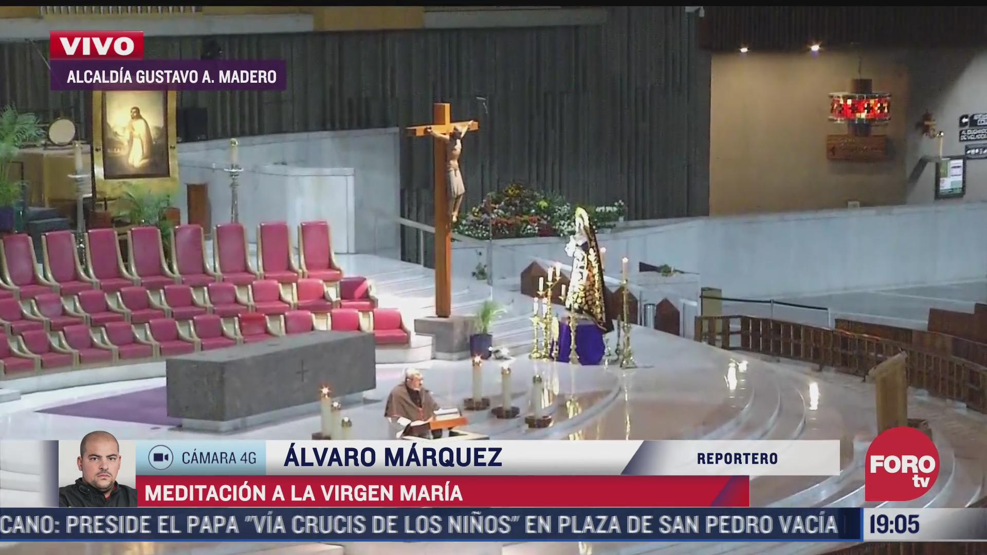 basilica de guadalupe realiza meditacion a la virgen maria
