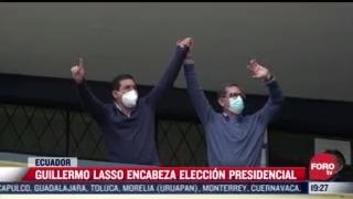 celebran segunda vuelta de elecciones presidenciales en ecuador