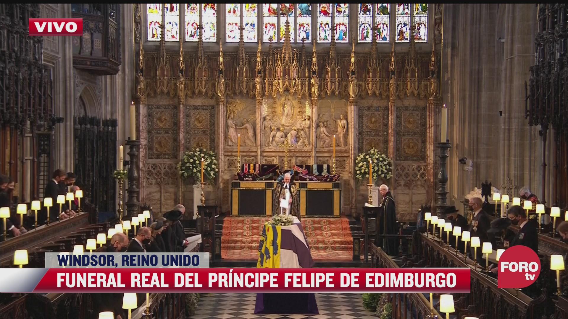 ceremonia religiosa del funeral del principe felipe