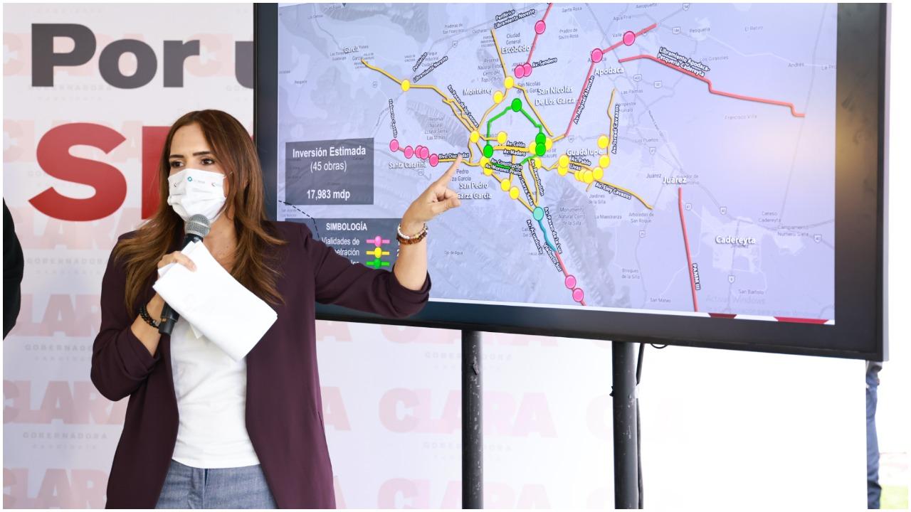 Clara Luz Flores Carrales presentó su Plan de Infraestructura Vial con segundos pisos