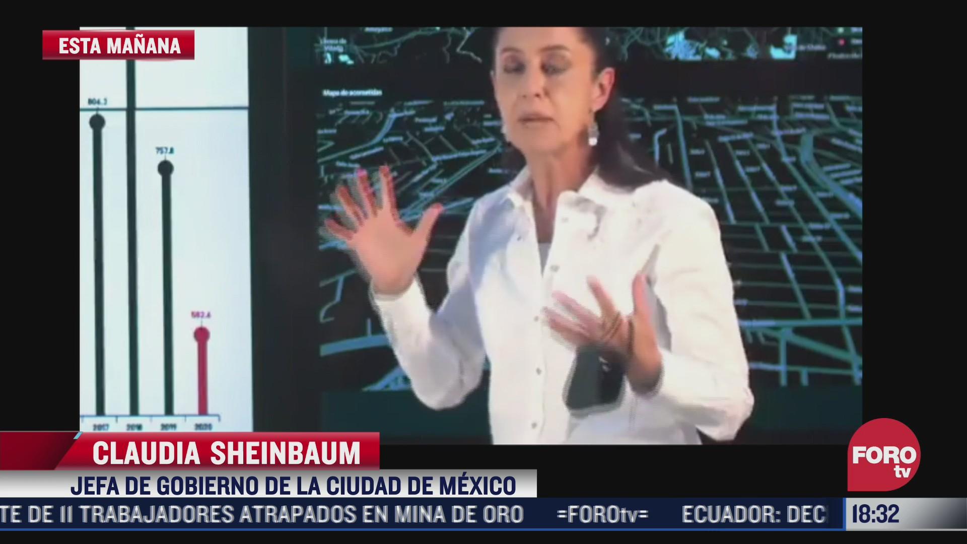 claudia sheinbaum pide cuidar el agua ante sequia en cdmx