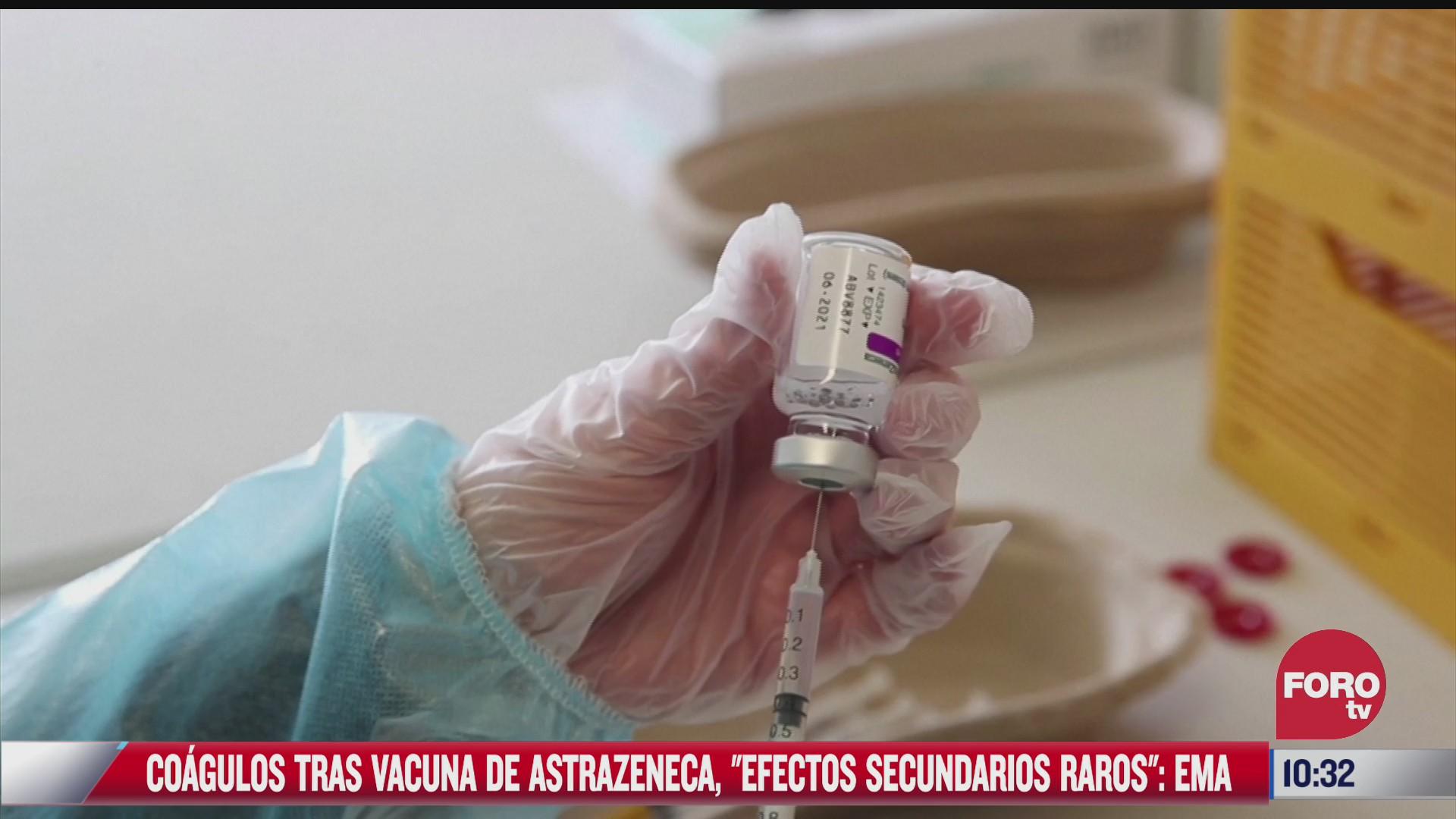coagulos tras vacuna astrazeneca tiene efectos secundarios raros ema