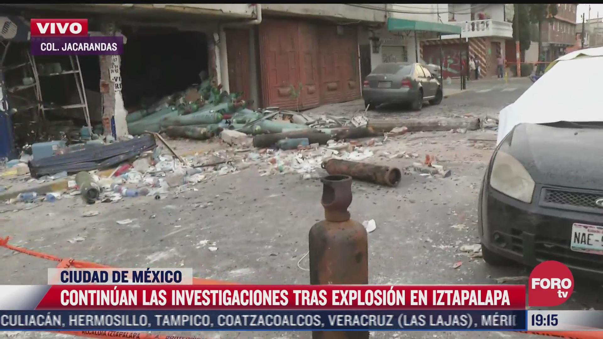 continua investigacion tras explosion en inmueble de iztapalapa