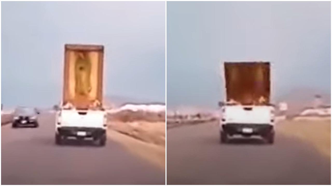 Video: Cuadro de Virgen de Guadalupe se cae y provoca reacción viral de mujer