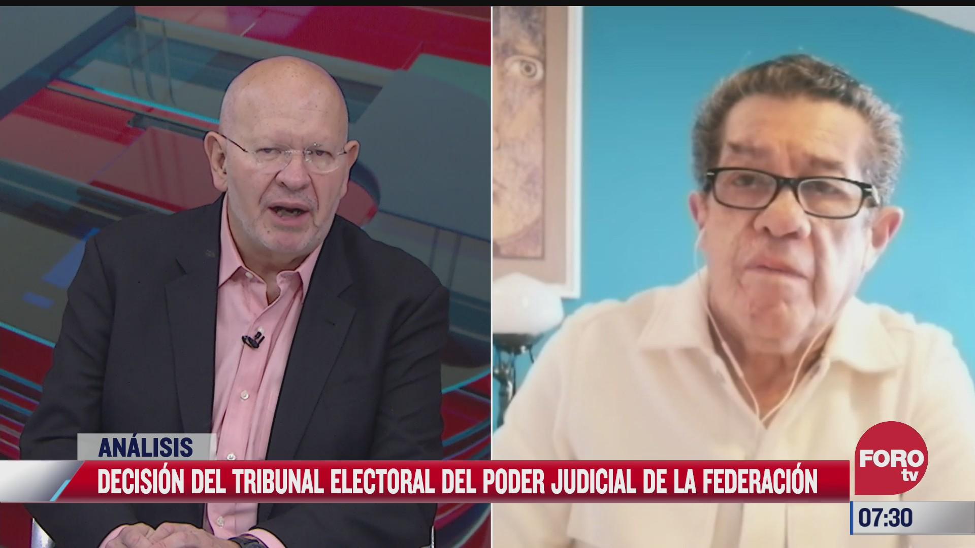 decision del tribunal electoral del poder judicial el analisis en estrictamente personal