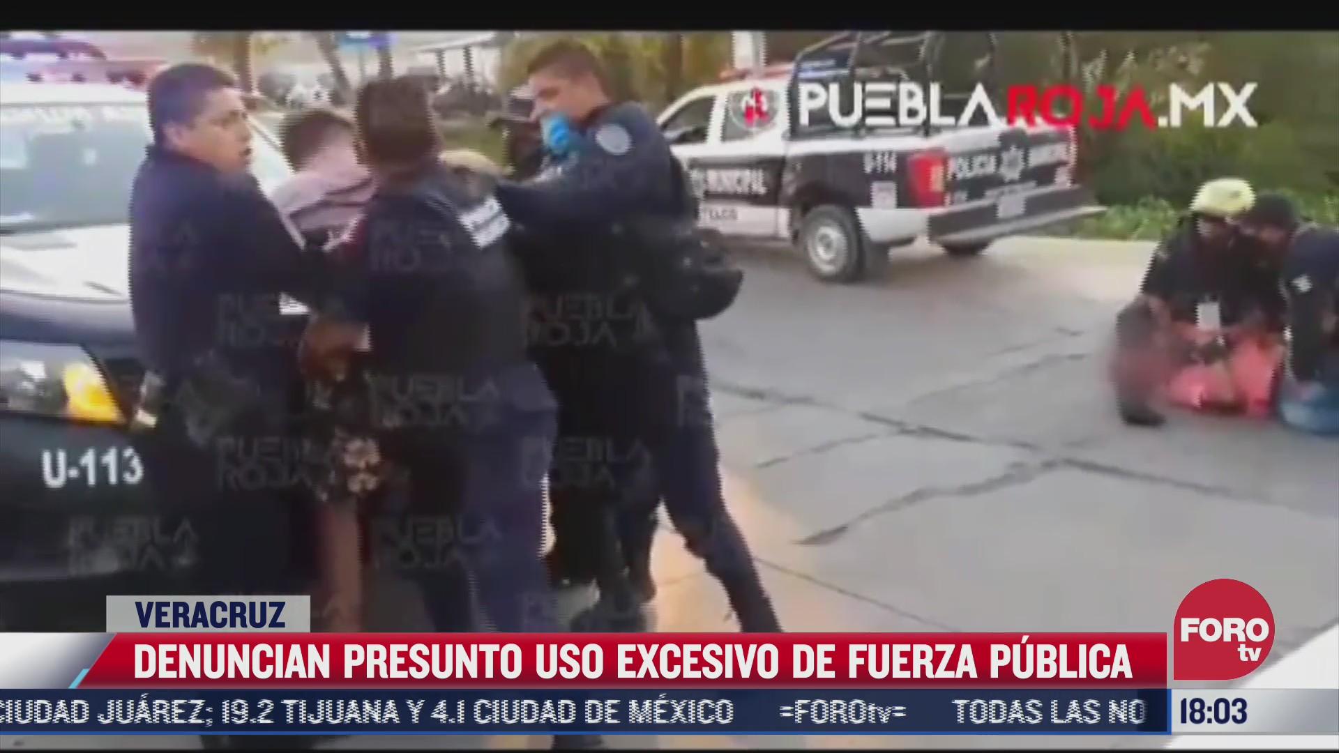 denuncian nuevo abuso policial en veracruz