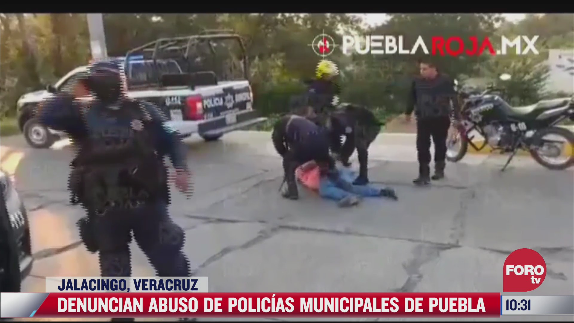 denuncian presunto abuso policial en puebla