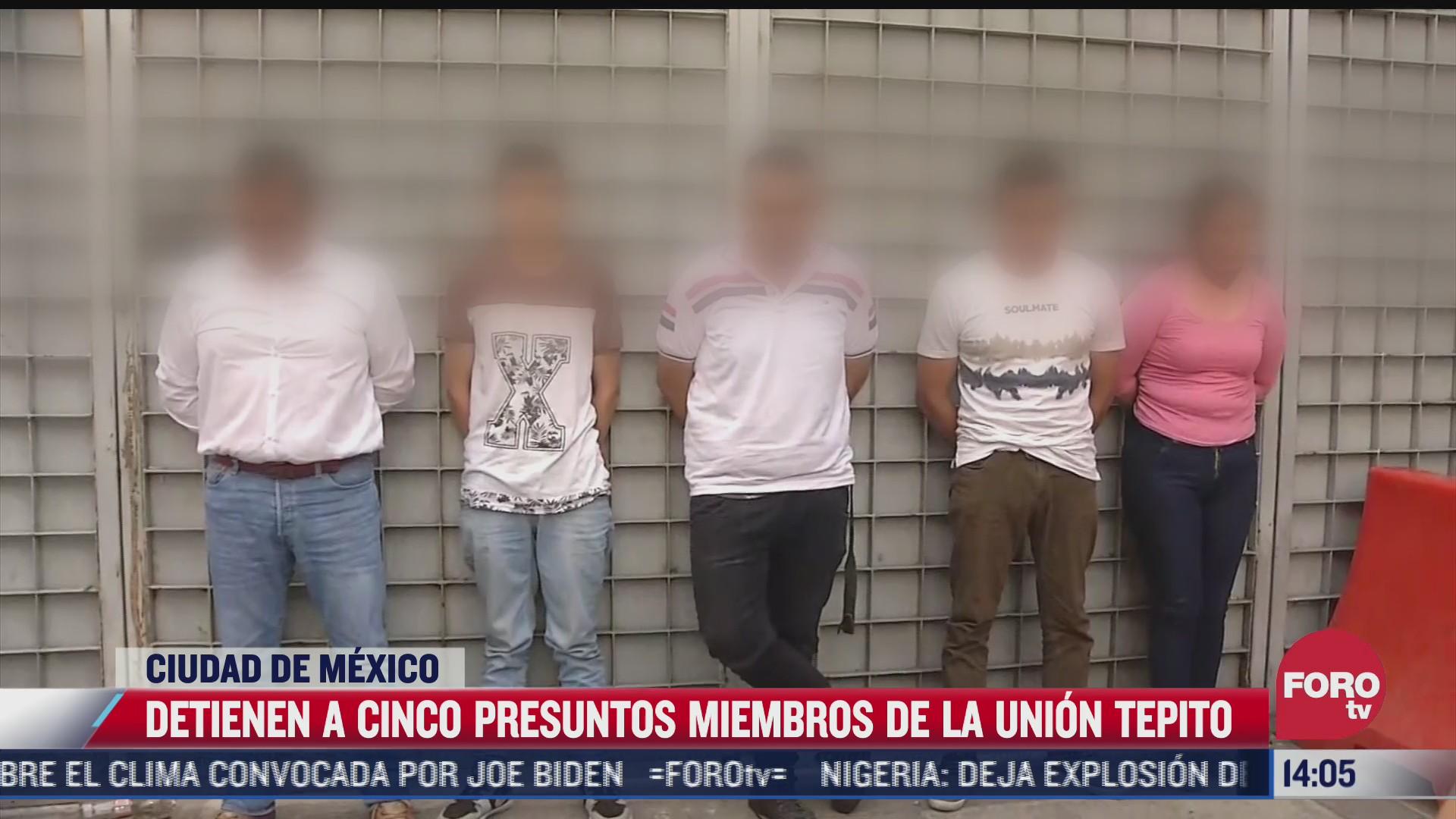 detienen a cinco integrantes de la union tepito en la plaza de la teconologia