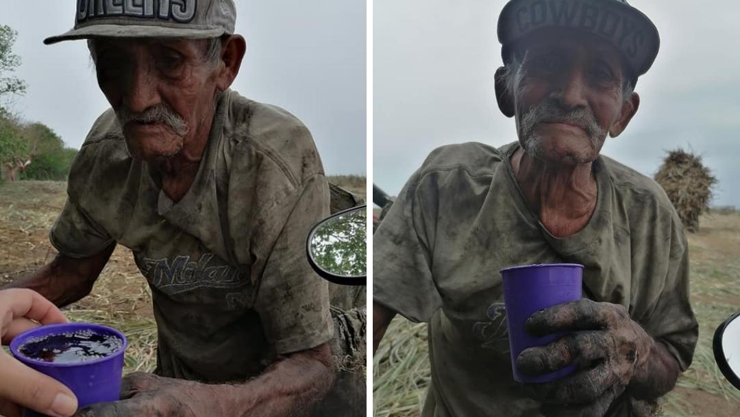 Piden ayuda para don Goyo; trabaja 12 horas en carañaveral