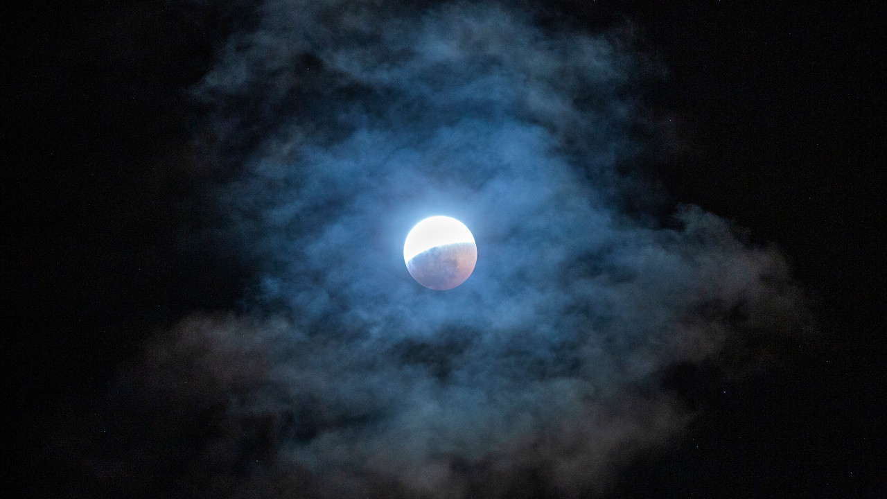 eclipse lunar, eclipse total, Luna, astronompía