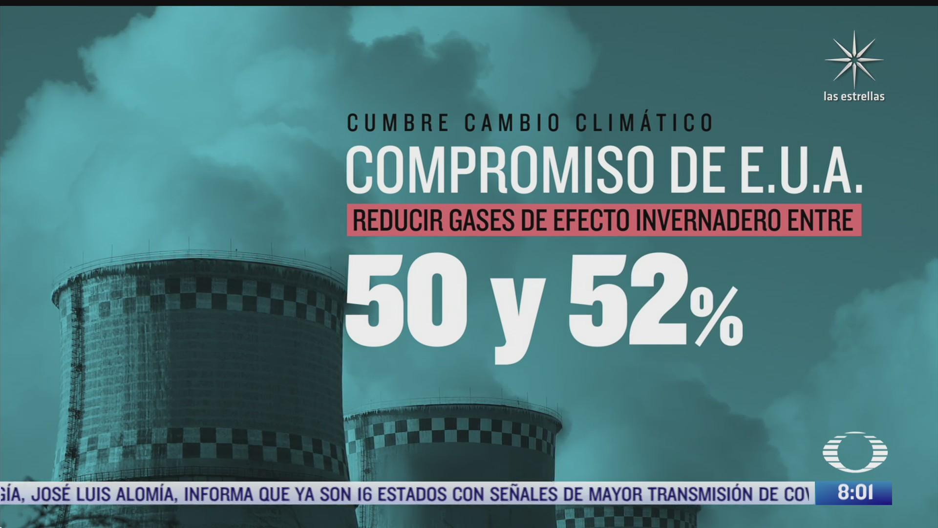 eeuu presenta ambicioso plan en la cumbre de lideres sobre el cambio climatico