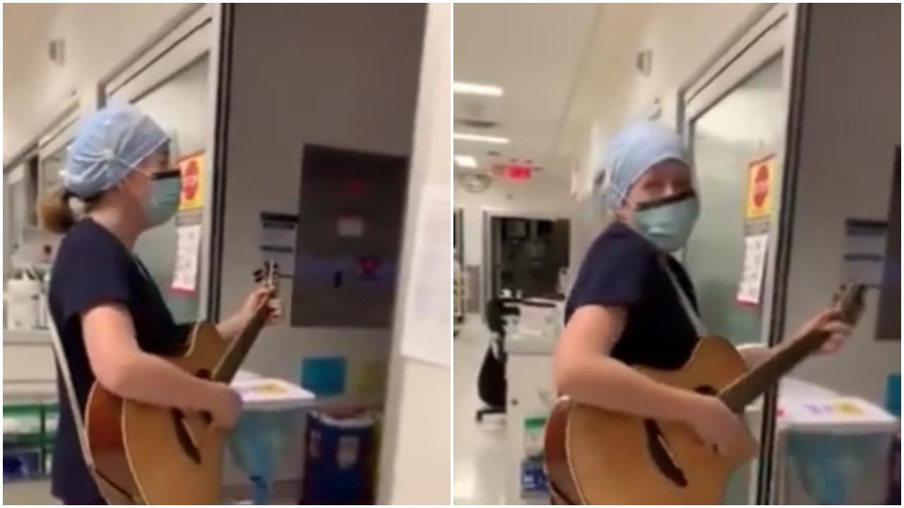 enfermera, canción, Canadá, hospital, captura de pantalla