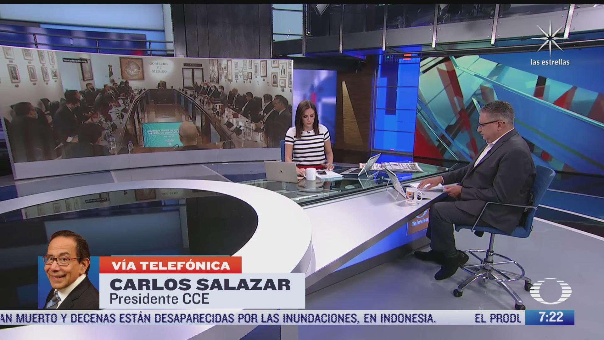 entrevista con carlos salazar presidente del cce para despierta