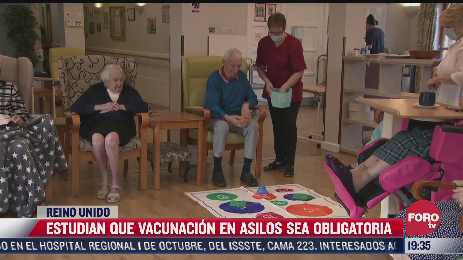 estudian que vacunacion en asilos sea obligatorias en reino unido