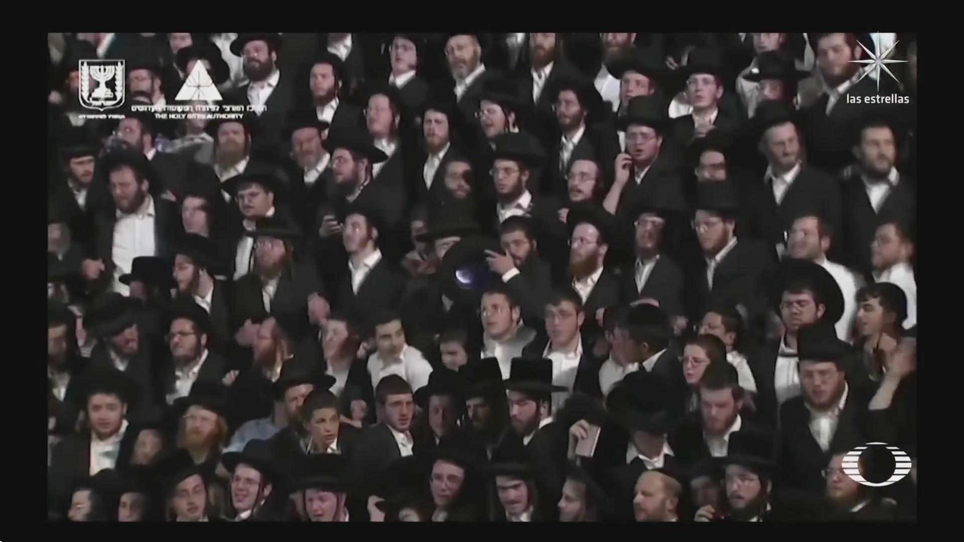 evento religioso en israel termina en estampida humana