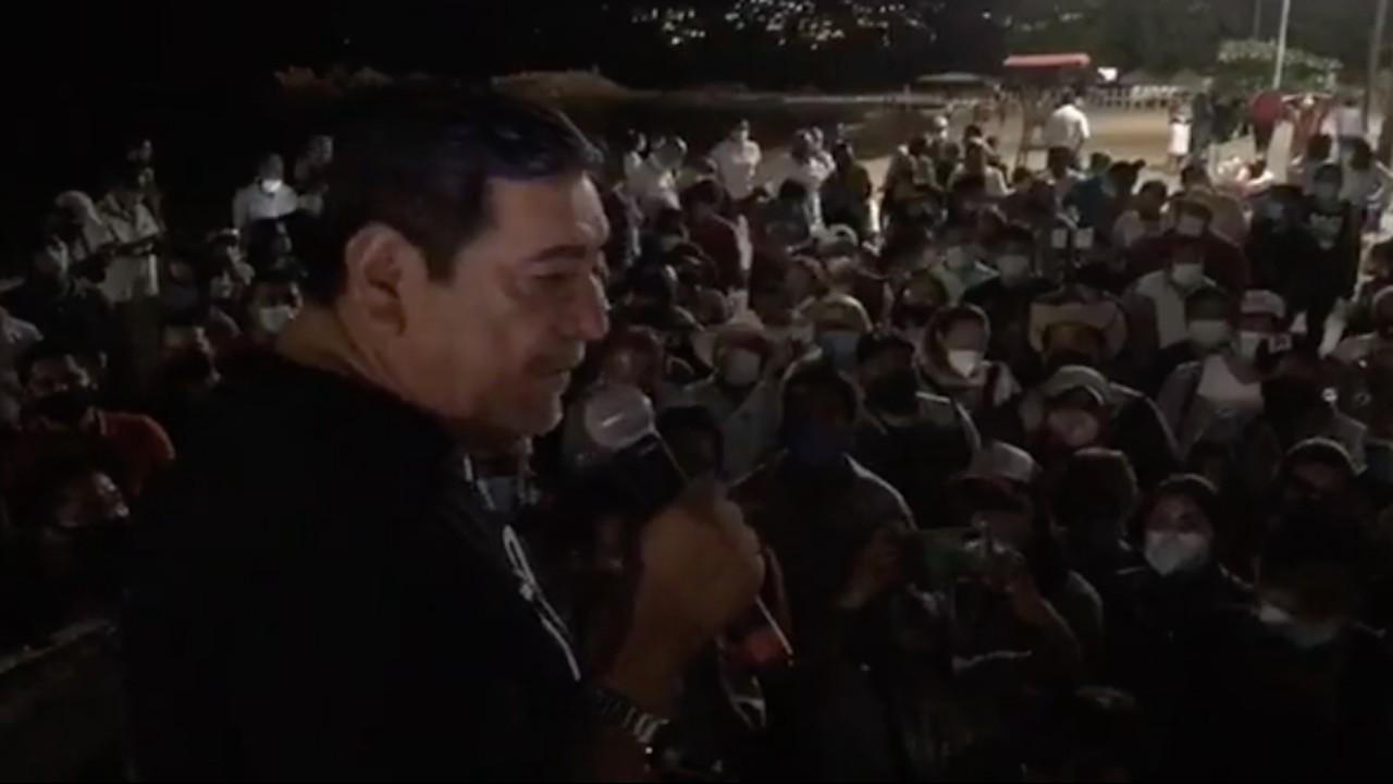 Félix Salgado reitera que impugnará decisión del INE durante un mitin en Acapulco