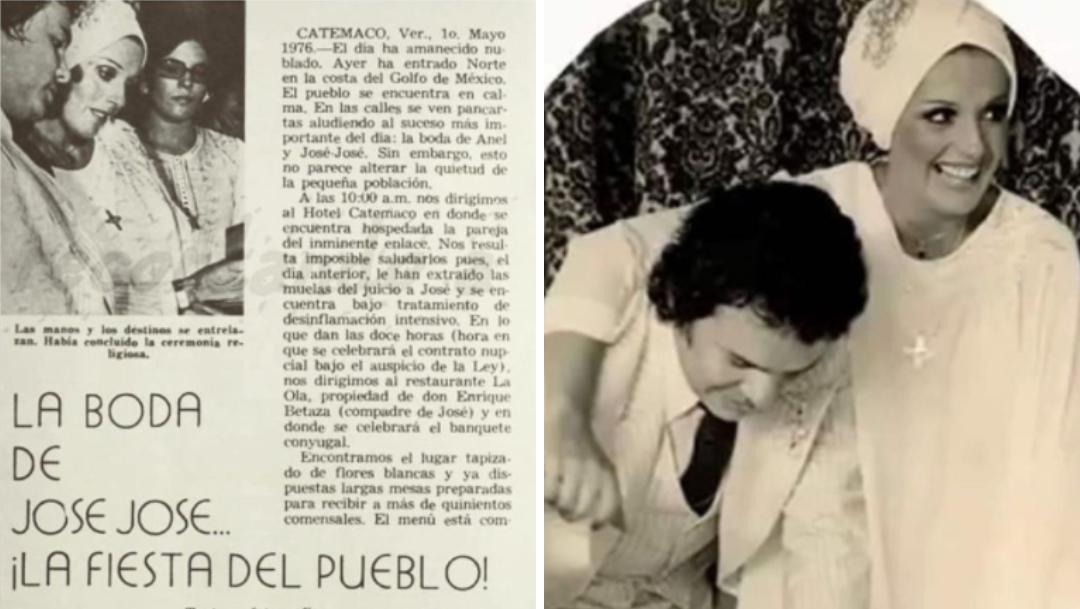 Anel presume fotos de boda con José José