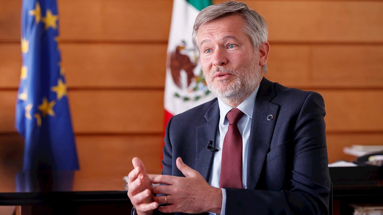 El nuevo embajador de la Unión Europea en México, Gautier Mignot