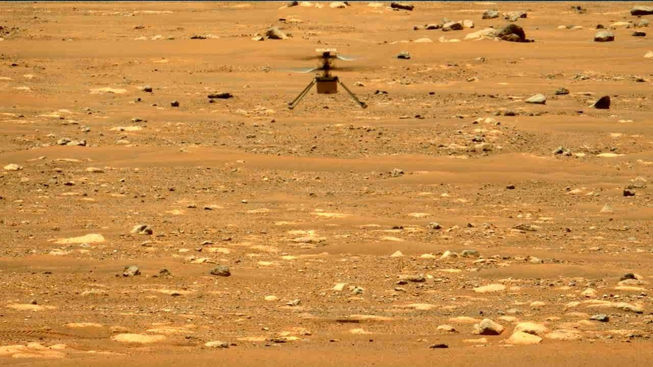 Helicóptero-Ingenuity-realiza-segundo-vuelo-en-Marte
