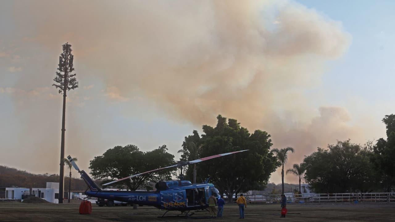 Incendio en Bosque de la Primavera llena de humo Zona Metropolitana de Guadalajara