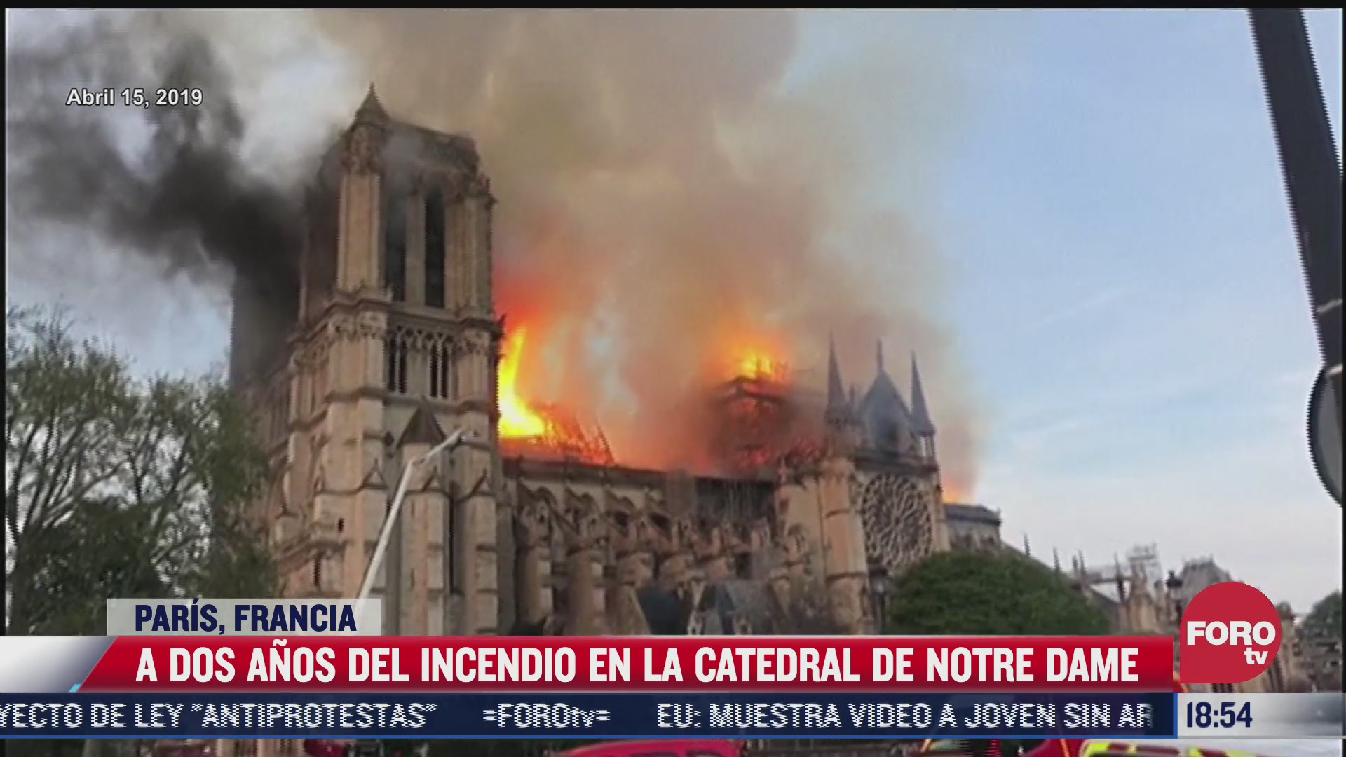 incendio en catedral de notre dame cumple dos anos