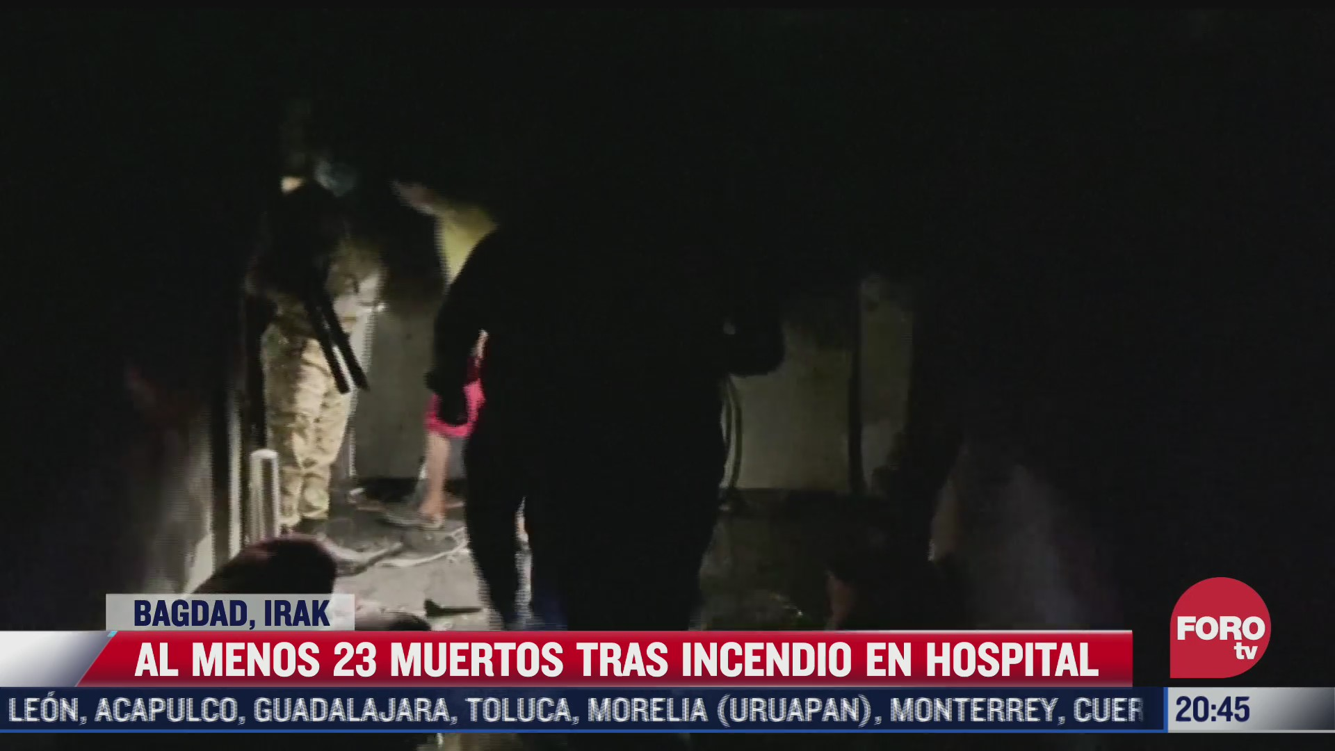 incendio en hospital de irak deja 23 muertos