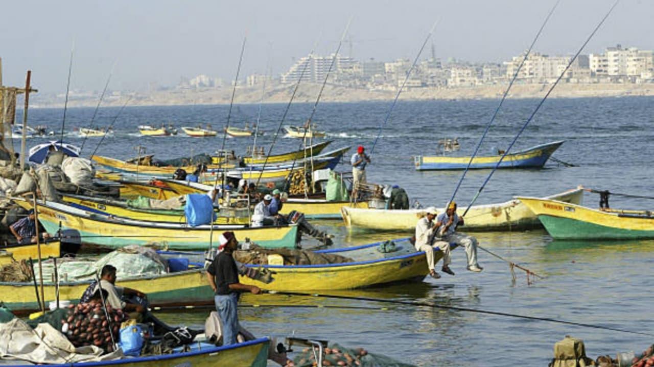 Israel cerró la zona de pesca de Gaza por lanzamiento de cohetes