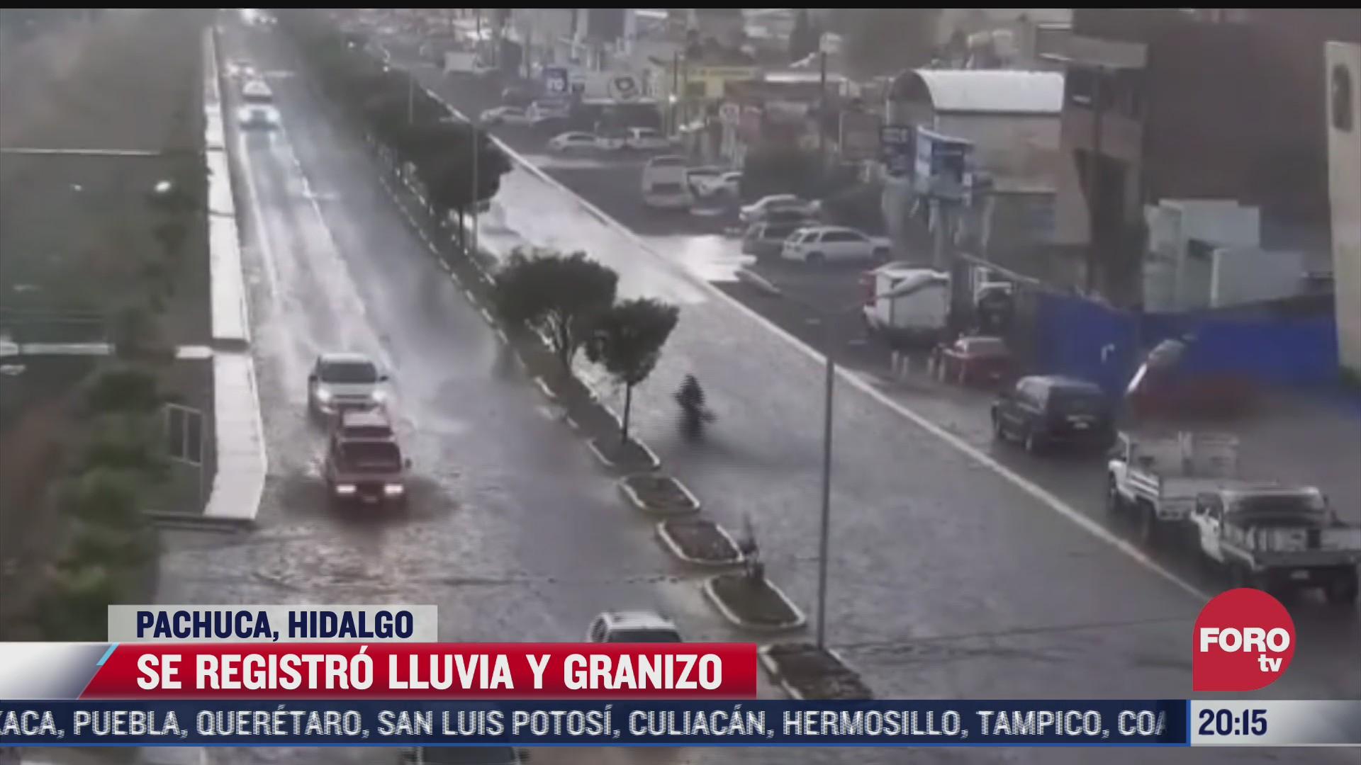 lluvia y granizada sorprende a habitantes de pachuca hidalgo