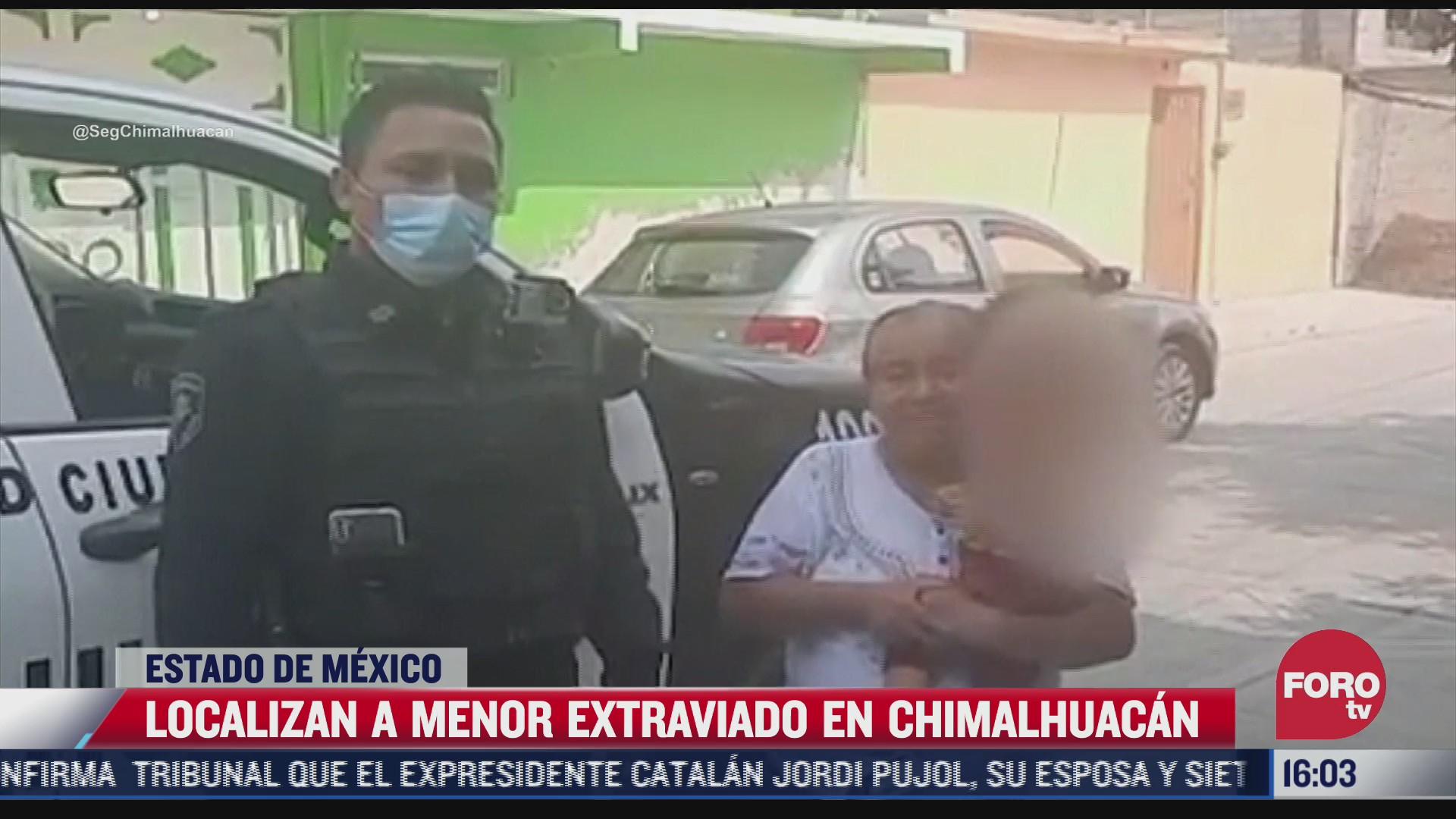 localizan a menor reportado como extraviado en chimalhuacan edomex