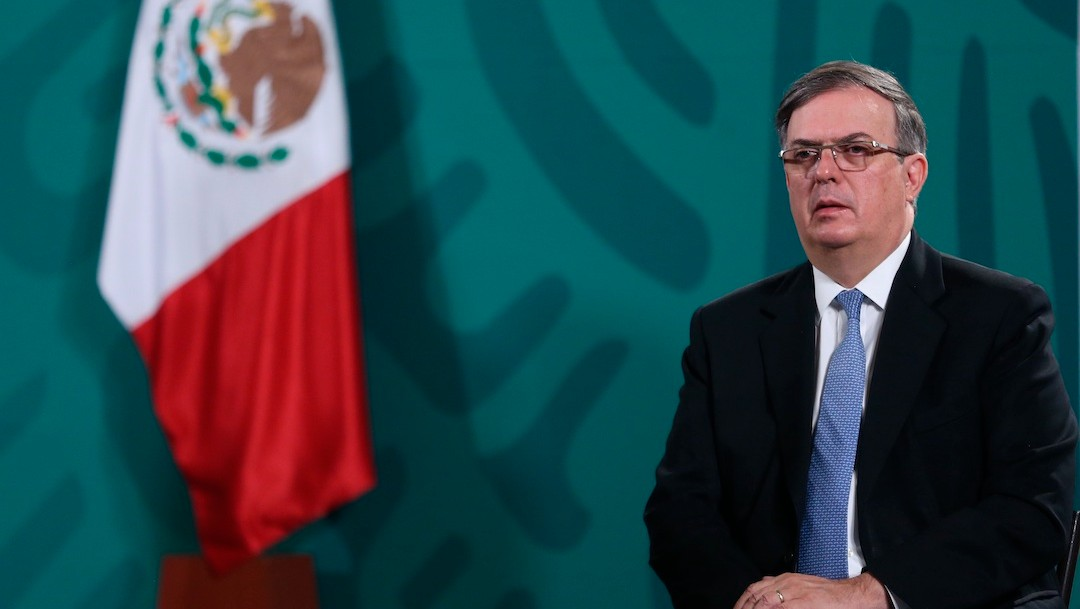 El secretario de Relaciones Exteriores, Marcelo Ebrard, durante rueda de prensa matutina en Palacio Nacional (EFE)