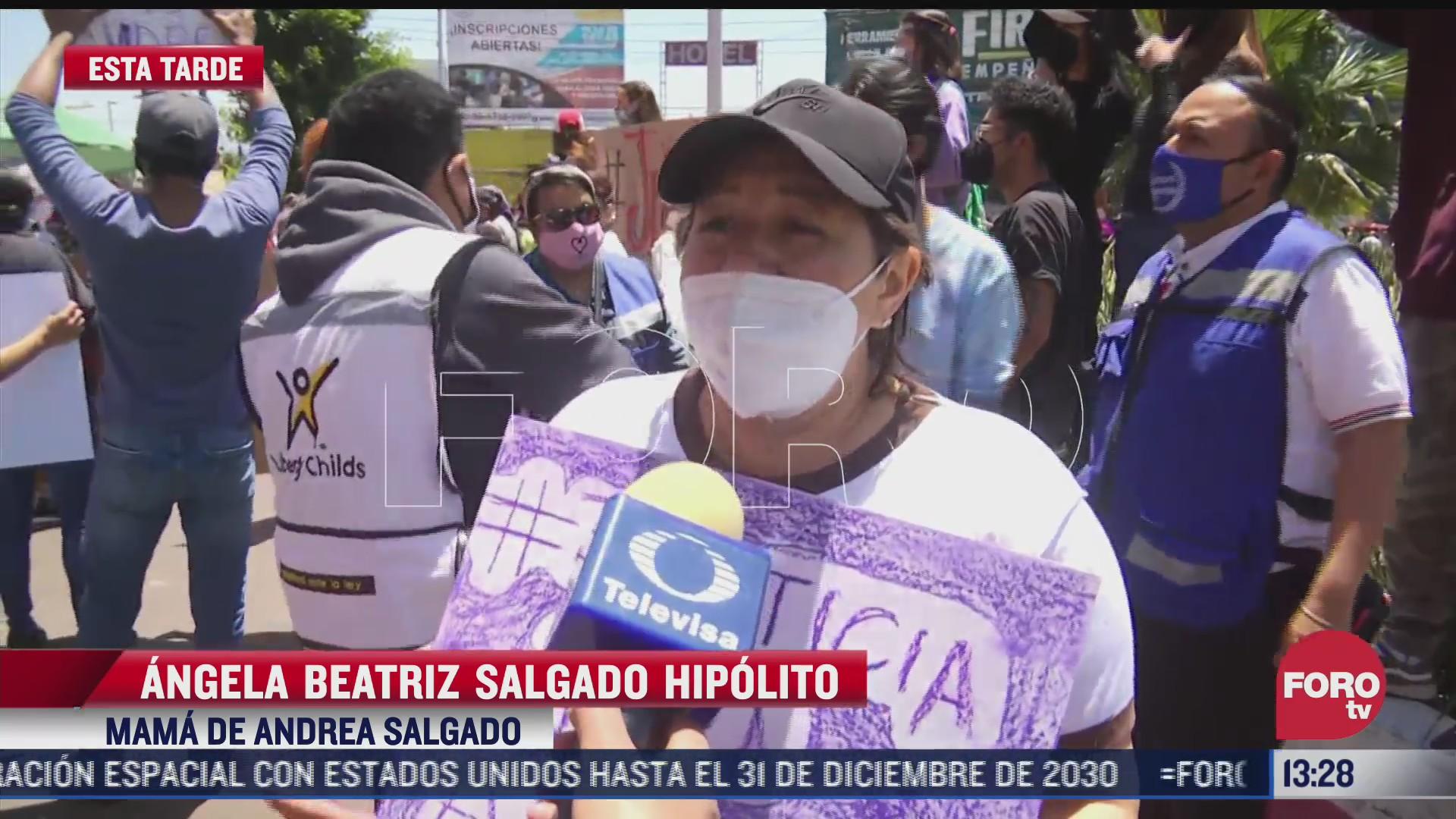 marchan por feminicidio de andrea salgado en nezahualcoyotl edomex