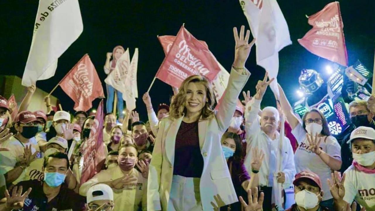 La candidata a la gubernatura de la coalición Juntos Hacemos Historia en Baja California, Marina del Pilar Avila Olmeda (Facebook: Marina del Pilar)