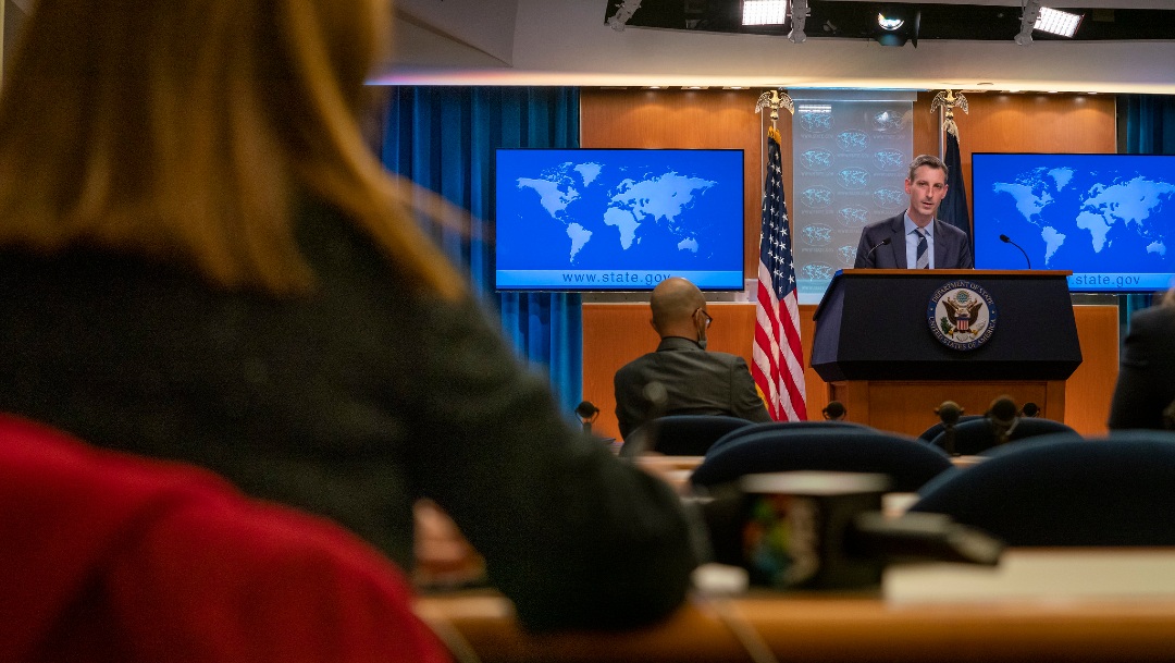 El portavoz de la diplomacia de Washington, Ned Price