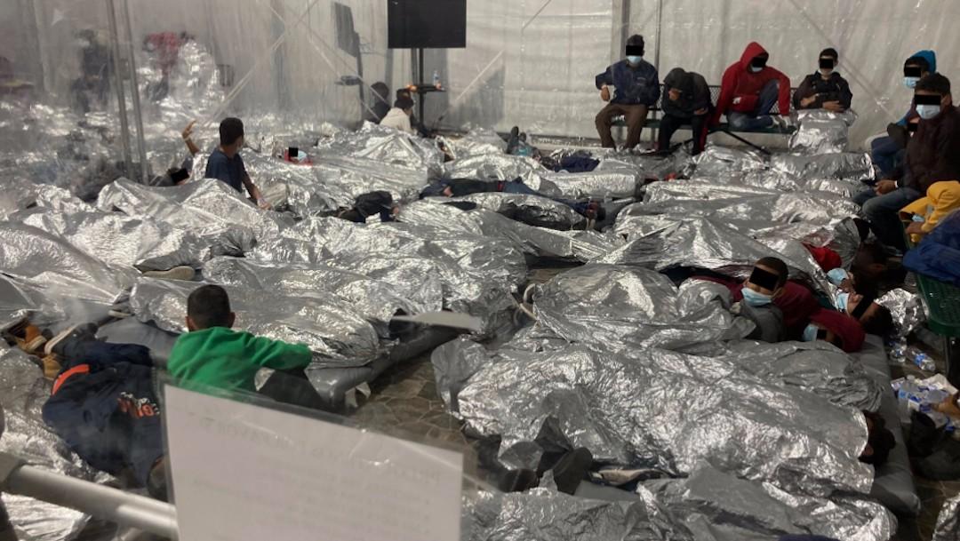 Afluencia de niños migrantes ilegales en Estados Unidos (Twitter: @RepRonnyJackson)