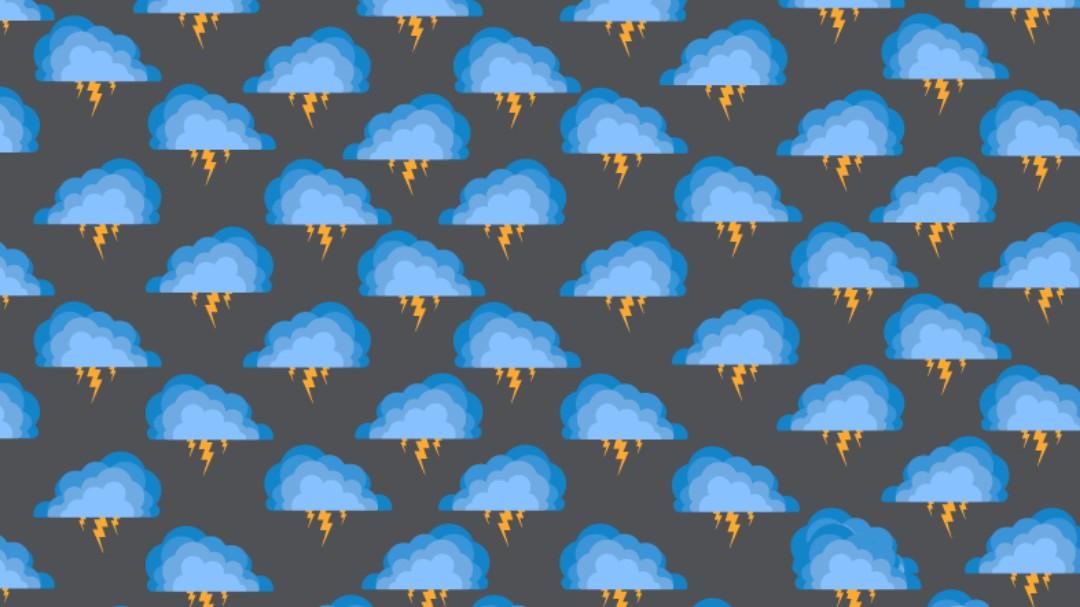 Reto visual: Encuentra las nubes con un rayo blanco