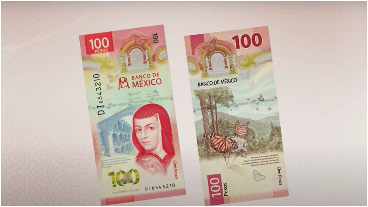 Nuevo billete mexicano de 100 pesos mexicanos elegido como el mejor del 2020