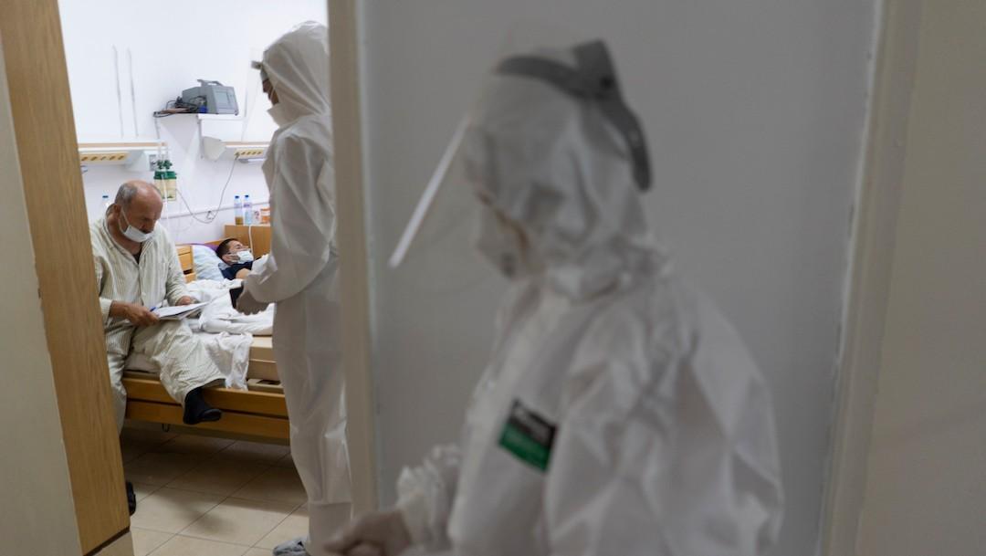 Paciente con COVID-19 en un hospital (Getty Images)