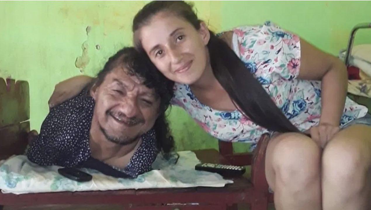 Padre Sin Brazos Piernas Foto