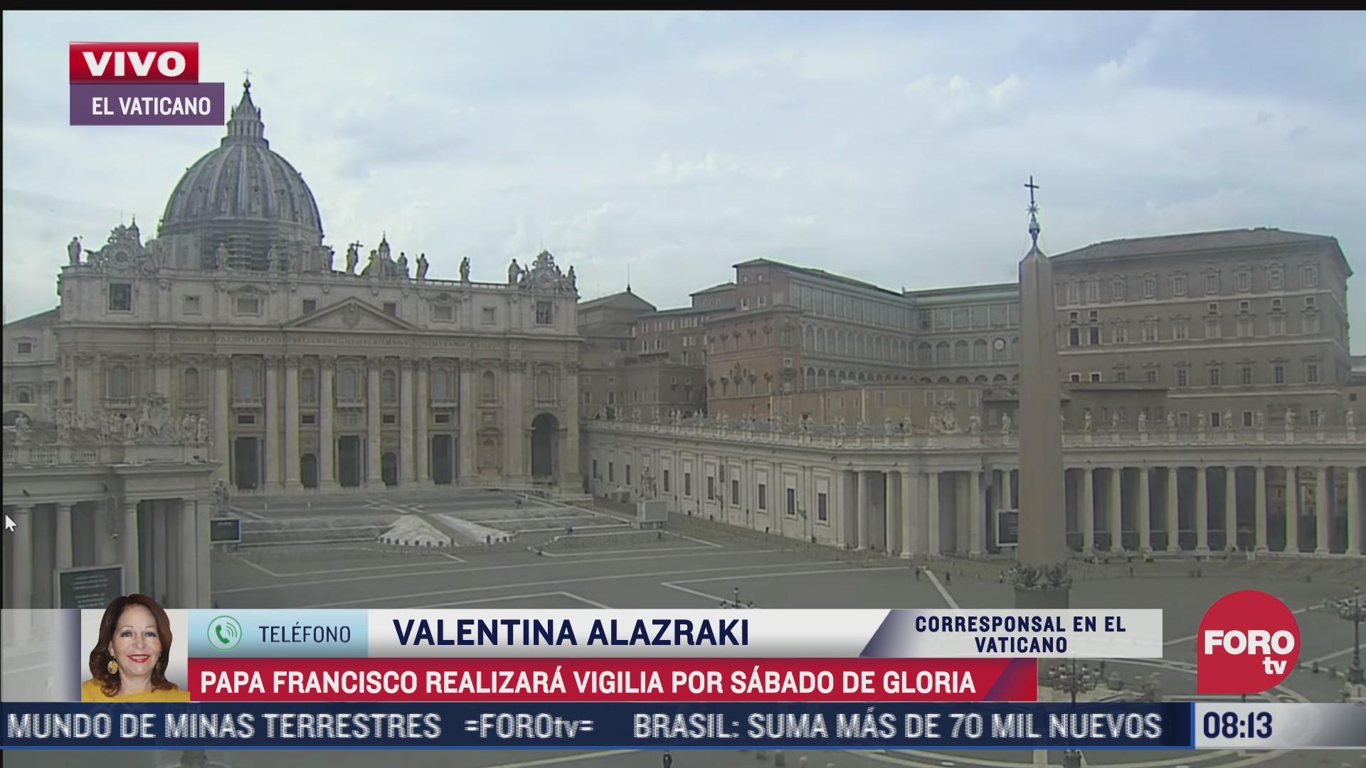 papa francisco celebrara la vigilia del sabado santo con algunos cambios por covid