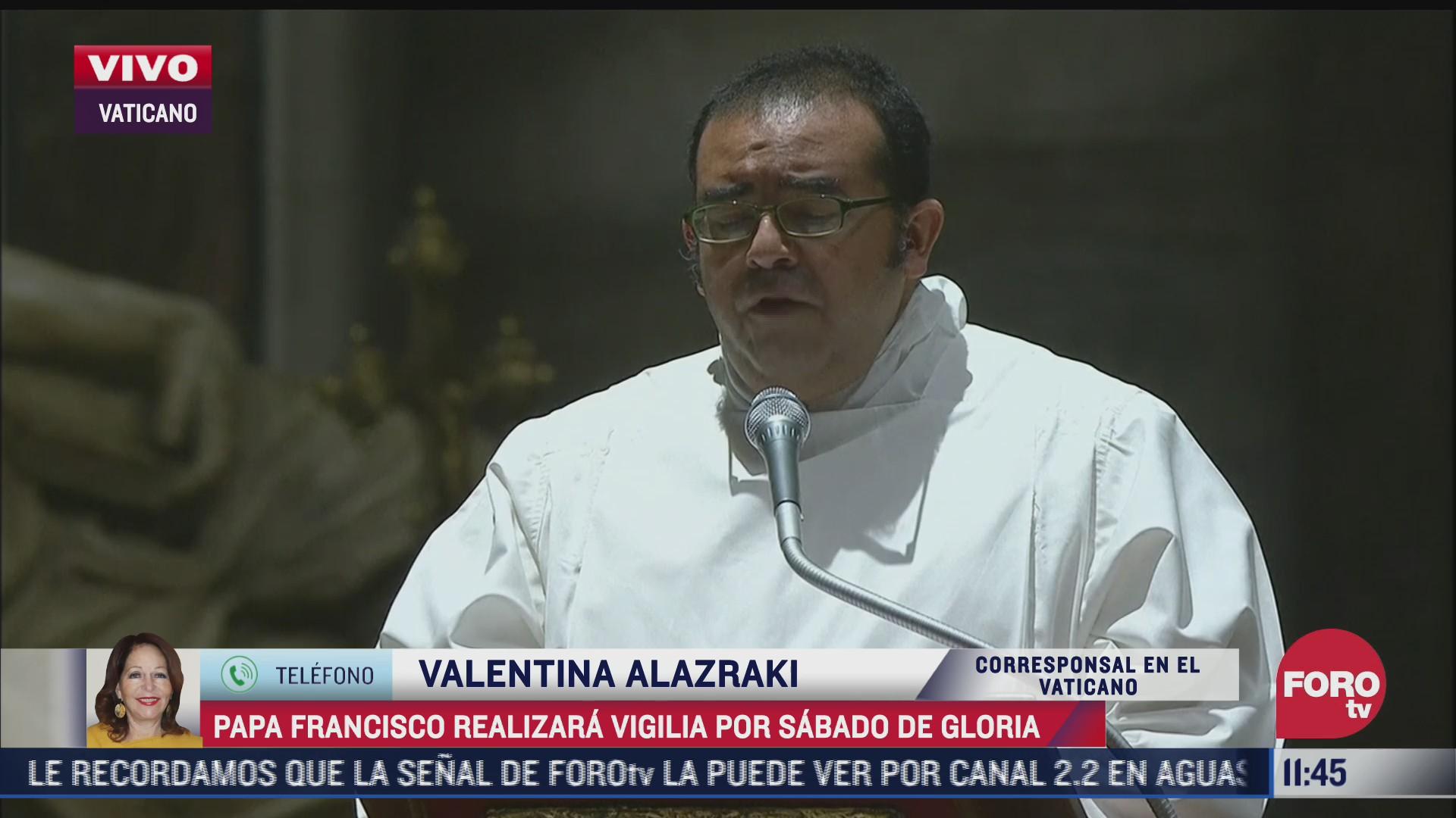 papa francisco realizara vigilia por sabado de gloria
