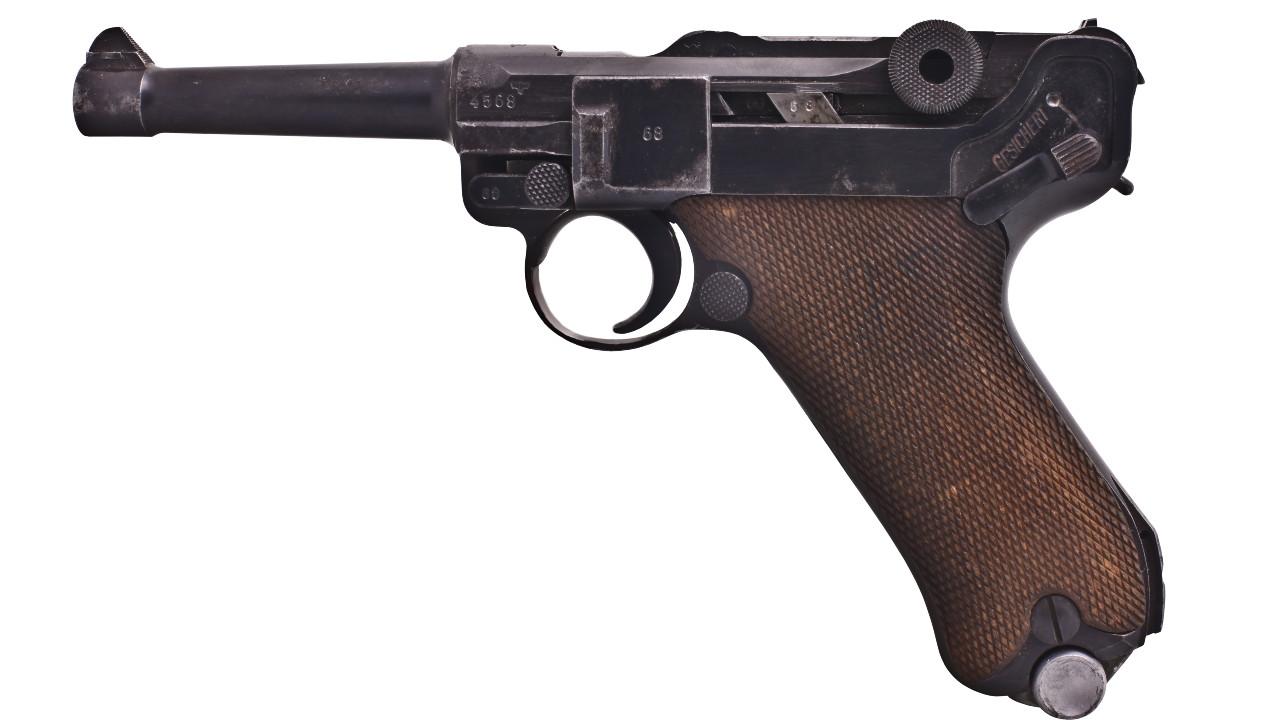 pistola, Luger, Alemania, ladrón, imagen ilustrativa